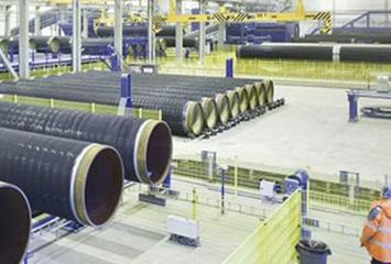 Производство стальных труб с изоляцией